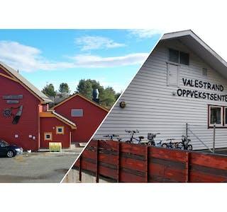 Auklandshamn skule og Valestrand oppvekstsenter.