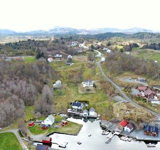 Dronefoto frå Tjernagel, 1. mai 2021.