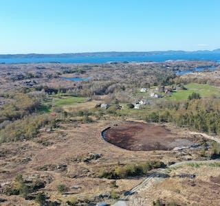 dronefoto frå paddevegen retning vandaskog