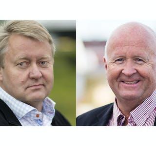 John Harald Jakobsen, direktør Haugaland Kraft Energi og Olav Linga, konsernsjef Haugaland Kraft.