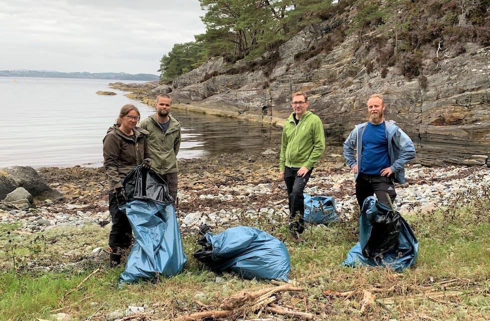 Sveio MDG har nyleg hatt ryddeaksjon i Breidvika. Partiet ønsker å gjennomføra ein politikk som fører til at det i mindre og mindre grad blir nødvendig å rydda strender.