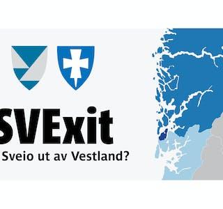 Illustrasjon med fylkesvåpena til Vestland og Rogaland.