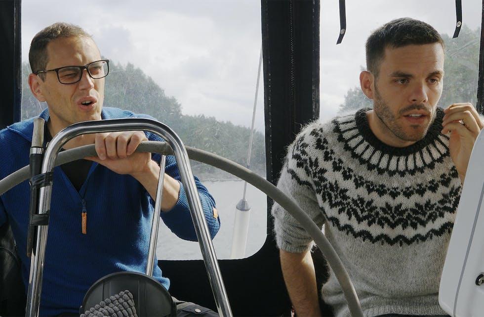Ole André Hammerøy og Lars Korvald er med i serien som grunnstøytte i Sveio.